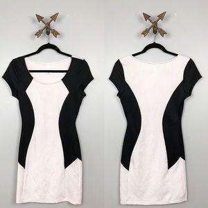 Women's white & black color block Mini Dress Sz S